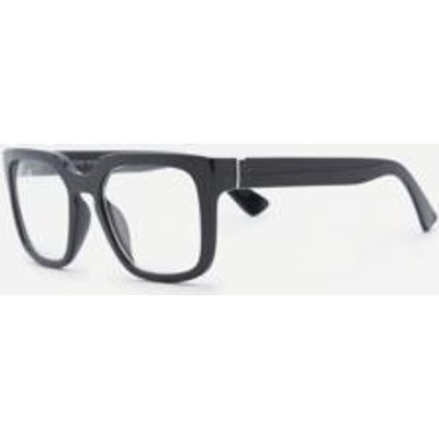 Square Black Frame Readers, BLACK