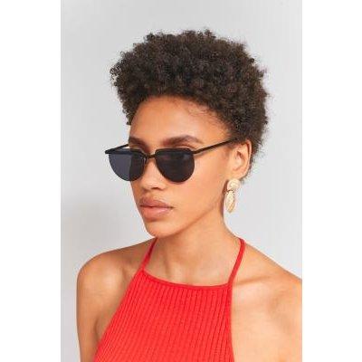 Le Specs Mafia Moderne Rimless Sunglasses, BLACK