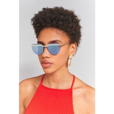 Le Specs Mafia Moderne Rimless Sunglasses, BLUE