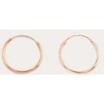 Sterling Silver Medium Hoop Earrings, ROSE
