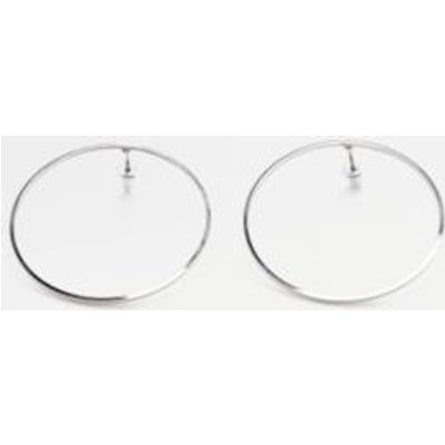 Large Front Facing Stud Earrings, SILVER