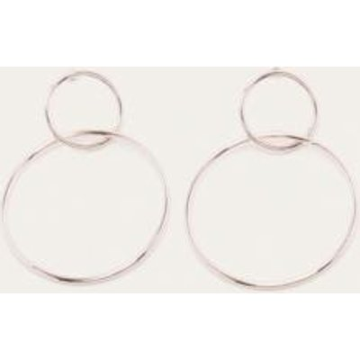 Kate Double Circle Stud Earrings, ROSE