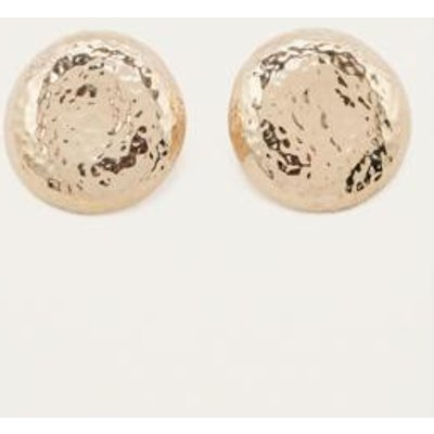Large Textured Circle Stud Earrings, GOLD