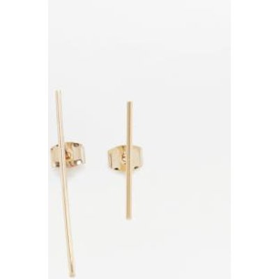 Asymmetrical Stick Drop Earrings, GOLD