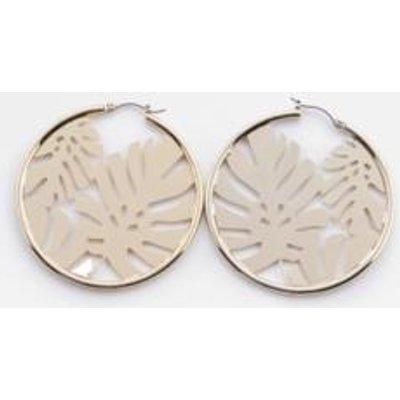 Skinnydip Athalia Palm Hoop Earrings, GOLD