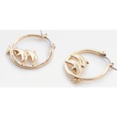 Skinnydip Dolphin Hoop Earrings, GOLD