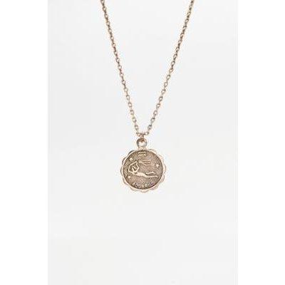 Zodiac Pendant Necklace, WASHED BLACK