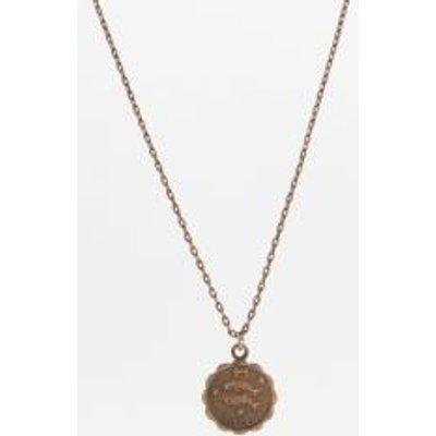 Zodiac Pendant Necklace, CHARCOAL