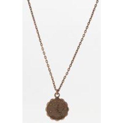 Zodiac Pendant Necklace, CREAM