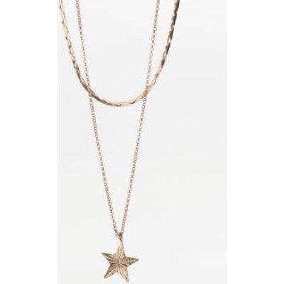 Vintage Star Charm Necklace Set, GOLD