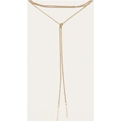 Fine Chain Knotted Necklace, GOLD
