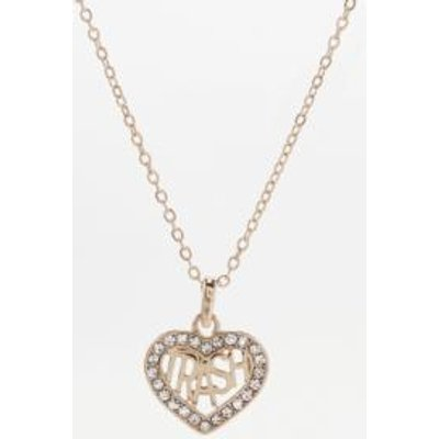 Skinnydip Trash Heart Pendant Necklace, GOLD