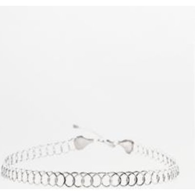 Wire Tattoo Choker Necklace, SILVER