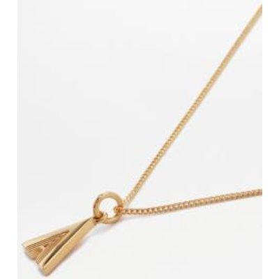 Rachel Jackson Deco Initial Alphabet Pendant Necklace, BLACK