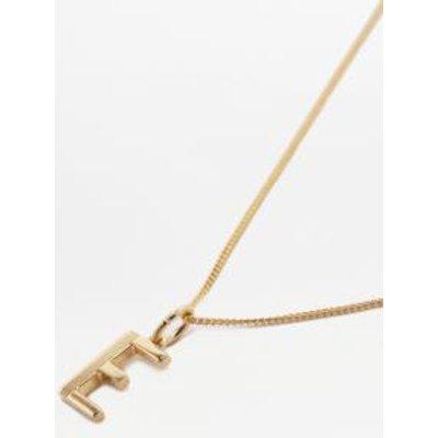 Rachel Jackson Deco Initial Alphabet Pendant Necklace, CHARCOAL