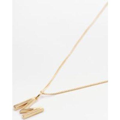 Rachel Jackson Deco Initial Alphabet Pendant Necklace, SILVER