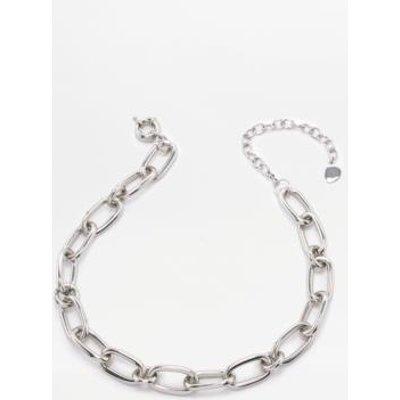Cheap Monday Linked Choker Necklace, SILVER