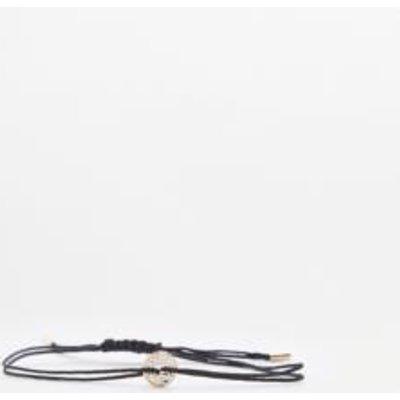 Filigree Geometric Disc Bracelet, BLACK