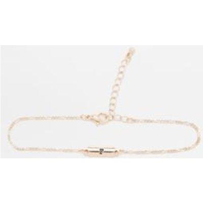 Initial Plate Bracelet, LIGHT GREY