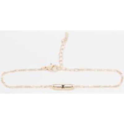 Initial Plate Bracelet, WHITE