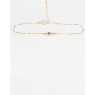 Initial Plate Bracelet, CREAM