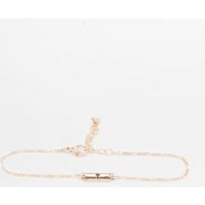Initial Plate Bracelet, TAN
