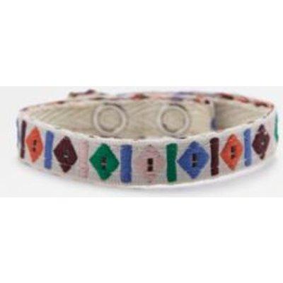 Geometric Fabric Festival Popper Bracelet, WHITE