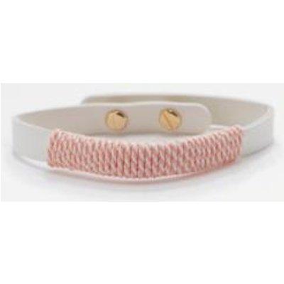 Fabric Wrapped PU Bracelet, PINK