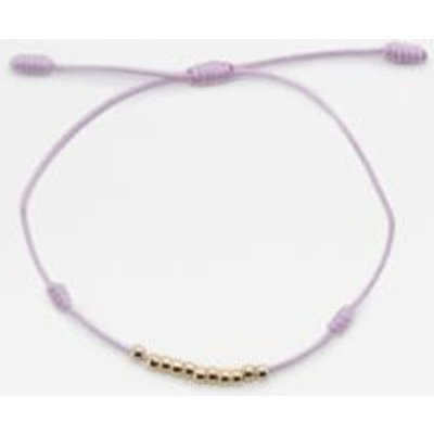 Ditsy Knotted Beaded Thread Bracelet, LILAC