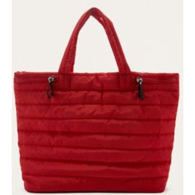 BDG Red Quilted Puffer Tote Bag, RED