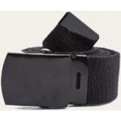 Sporty Black Slider Belt, BLACK