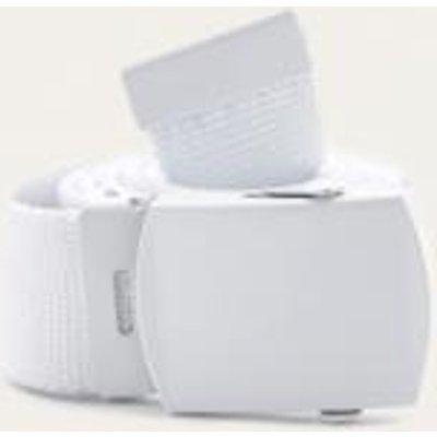 Sporty White Slider Belt, WHITE