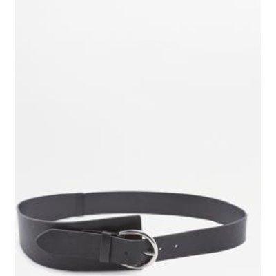 Black Wide Wrap Belt, BLACK