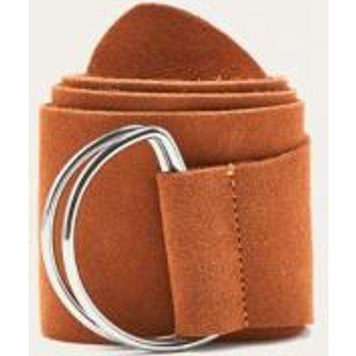 Suede D-Ring Belt, BROWN