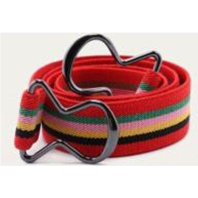 Striped Elastic Clip Belt, ASSORTED