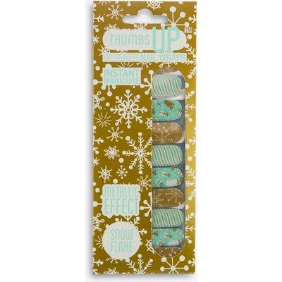 Snowflake Metallic Effect Nail Wraps