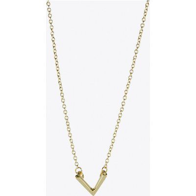 Chevron V Necklace in Gold