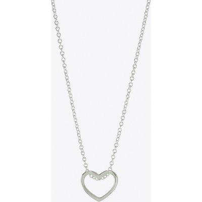 Heart Loop Necklace in Silver