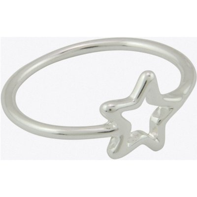 Geometric Star Ring in Silver