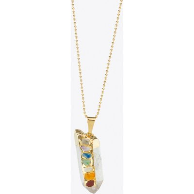 Chakra Mountain Crystal Necklace in Gold
