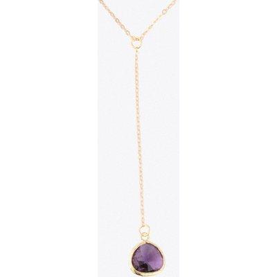 Amethyst Drop Necklace