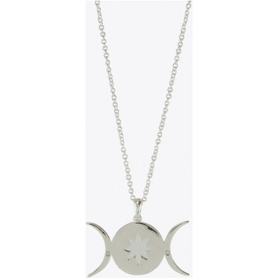 Triple Moon Goddess Star Necklace in Silver