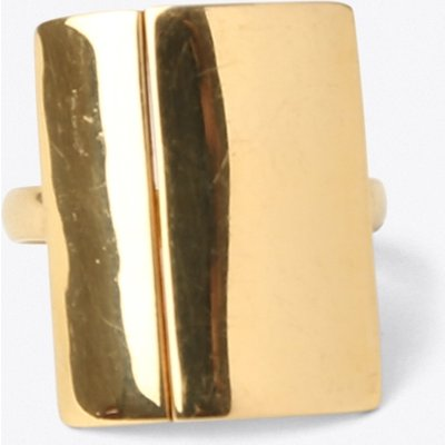 Oval Rectangle Ring in Gold 2