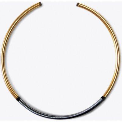 Circular Gold and Black Choker