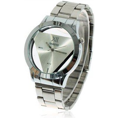 Fashionable Bariho Triangle Shaped Dial Stainless Steel Wrist Watch with Black Dial for Men A112 (Si