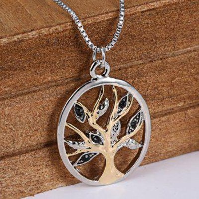 Tree Hollow Out Pendant Necklace