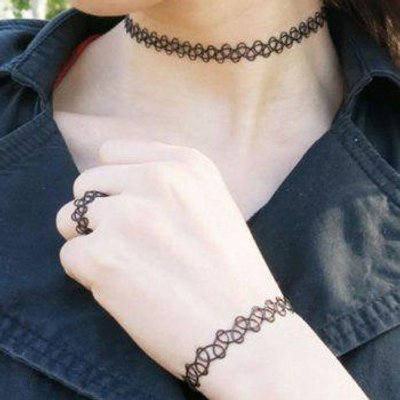 A Suit of Hollow Out Necklace Bracelet and Ring