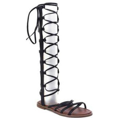 Casual Cross Straps and Zipper Design Women's Sandals