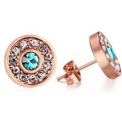 Pair of Stunning Rhinestoned Circle Earrings For Women