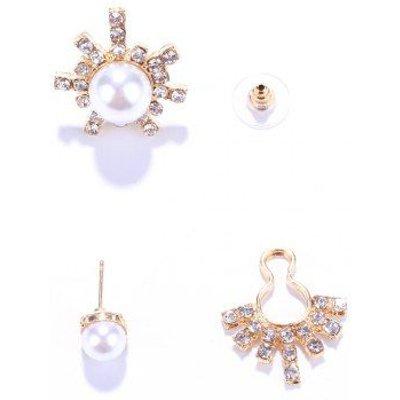 Pair of Faux Pearl Asymmetric Earrings